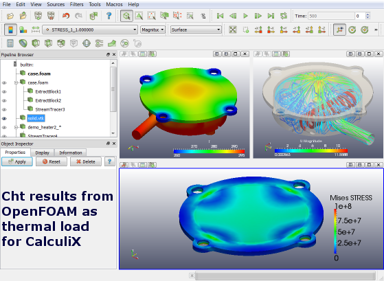 New CastNet Release: GUI Environment for OpenFOAM(R) and CalculiX